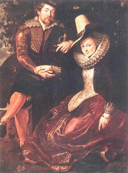 П.П.Рубенс. Автопортрет с первой женой Изабеллой Бранд