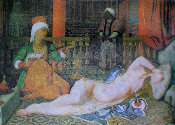 Ж.О.Д.Энгр. Одалиска с рабыней