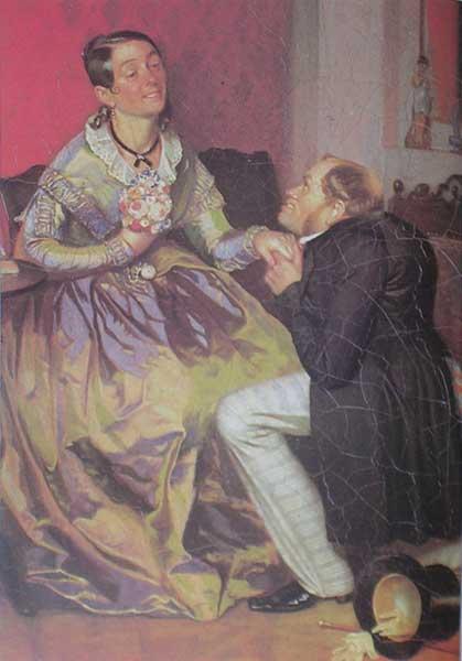 П.А.Федотов. Разборчивая невеста