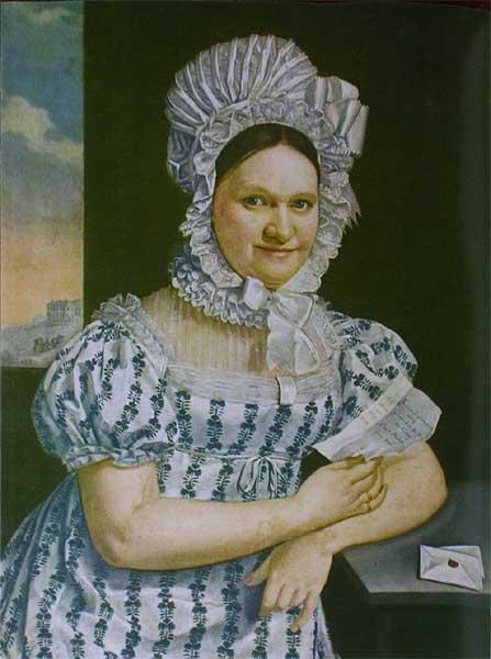 А. Махек. Портрет дамы с письмом