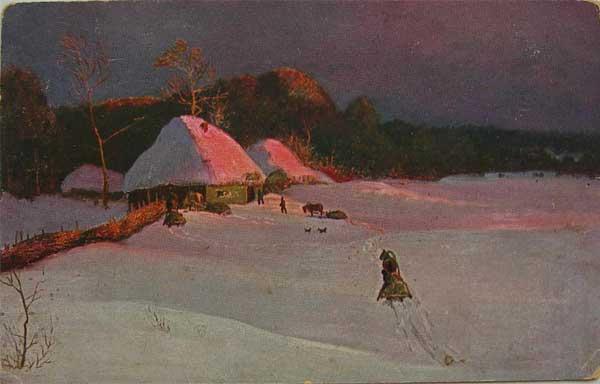 Н.Н.Дубовской.  Зимний вечер Winter evening by Nicholas N. Dubovskoy.