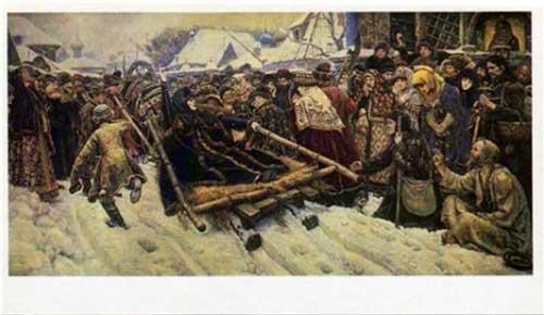 Открытка «В.И.Суриков. Боярыня Морозова» Postal card «Boyar Morozova by Basil I. Surikov»