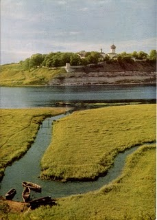 Открытка «Снетогорский монастырь» Postal card «Snetogorsky monastery»