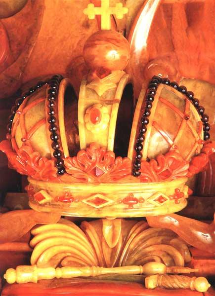 Открытка «Янтарная комната. Российская императорская корона» Postal card «The Amber Room. The Russian imperial crown»