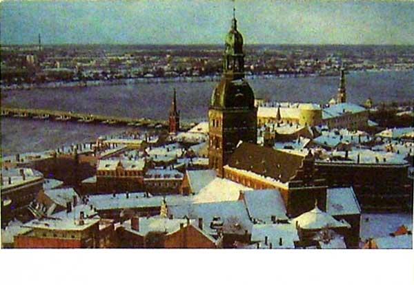 Открытка «Рига. Церковь св. Петра» Postal card «Riga. Church of St Peter»